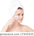 Young woman with perfect health skin of face 17445035