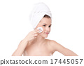 Young woman with perfect health skin of face 17445057