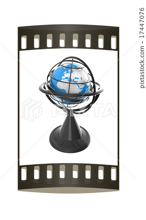 Terrestrial globe model. The film strip 17447076