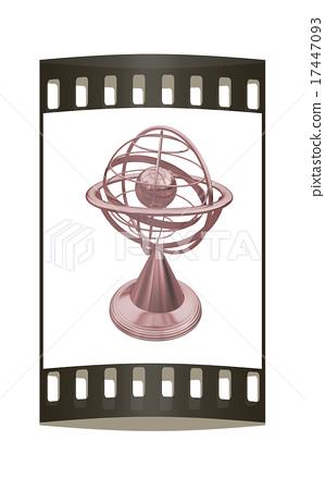 Terrestrial globe model. The film strip 17447093