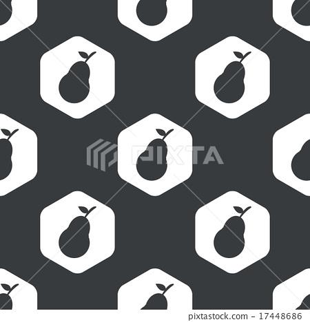 Black hexagon pear pattern 17448686