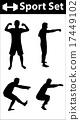 Sport silhouette set 17449102