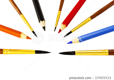 Brushes with pencils 17455513