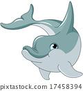 Swimming  Dolphin 17458394