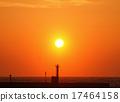 Nishi Izu Nishina港口的日落 17464158