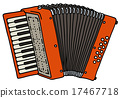 Red accordion 17467718