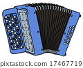 Blue accordion 17467719