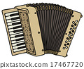 Retro beige accordion 17467720