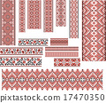 Set of Patterns for Embroidery Stitch 17470350