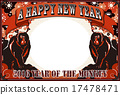 new, year's, card 17478471