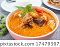 Spicy chicken curry with bamboo shoots. 17479307