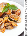 Stir fried clams with roasted chilli paste. 17479309