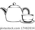 tea teacup teapot 17482634