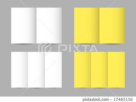 Vector folded paper leaflets 17483130