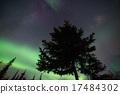 北極光 照亮 地球儀 17484302