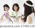 結婚禮服 花束 新娘 17485139