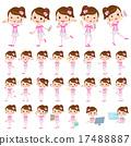 Pop idol in pink costume 17488887