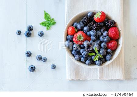 Stock Photo: assortment of berries