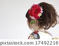 女性頭髮在和服後面設計 17492216