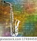 abstract grunge background with saxophone 17494459