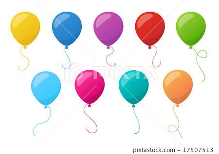 Holiday colorful balloons. Vector. 17507513