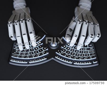 Robot typing on keyboard 17509730