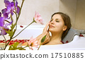 woman in a bath with rose-petals 17510885