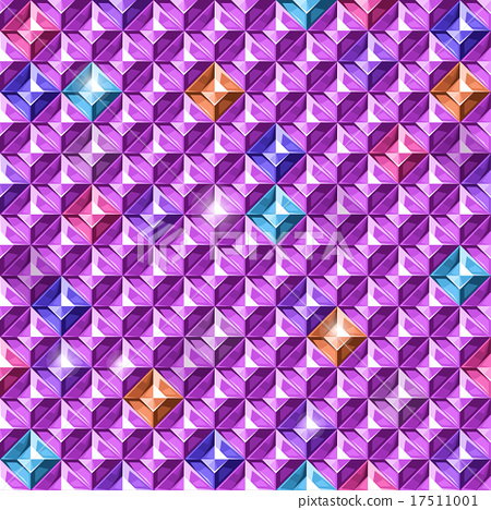 Colored diamonds texture. Vector illustration. 17511001