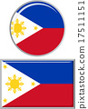 Philippines round and square icon flag. Vector 17511151