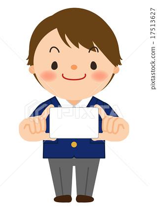 制服的男孩 - 卡片 17513627