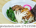 Traditional japanese food on wooden table 17515598