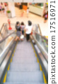 Abstract blur Escalator steps 17516971