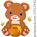 Bear Holds Honey Jar 17517345