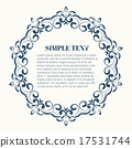 Round frame with decorative elements 17531744