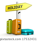 Luggages with holiday road sign 17532431