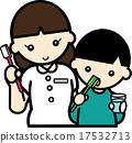 Teeth brushing teeth 17532713