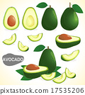 Set of avocado in various styles vector format 17535206