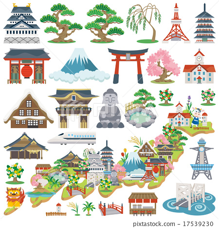 Japan Tourist Attraction Icon 17539230