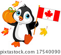Canadian Thanksgiving Day Penguin 17540090