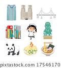 도쿄 일러스트 17546170