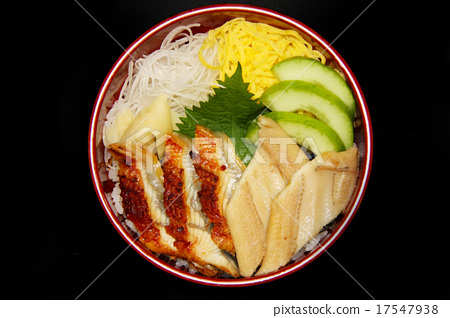Bowl of anago and eel 17547938