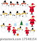 圣诞老人 圣诞老公公 雪人 17548154
