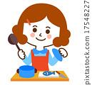Cute apron women cuisine 17548227