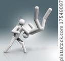 Judo 3D symbol, Olympic sports 17549097