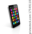 Smartphone with apps icons interface 17549110