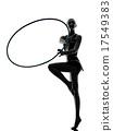 Rhythmic Gymnastics teeenager girl silhouette 17549383