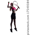 woman tennis player silhouette 17549384