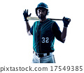 man baseball player silhouette isolated 17549385