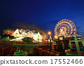 Amusement park at night 17552466