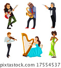 Musicians flat icons set 17554537
